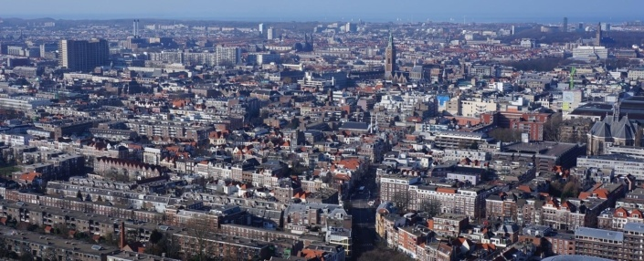 The Hague aerial view